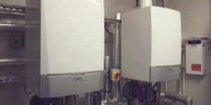 Two boilers installed by Boiler Plant Maintenance at a commercial property